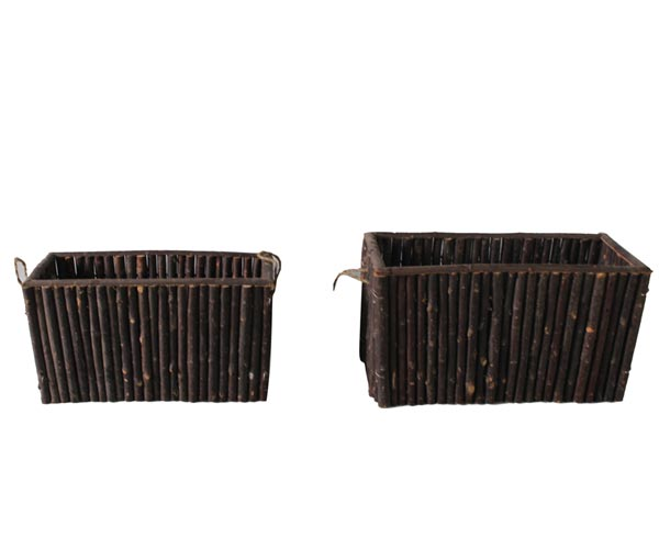 "rectangular planter-""柳,芦苇,芦竹,竹,芒,树皮,树梢""园艺用品。"